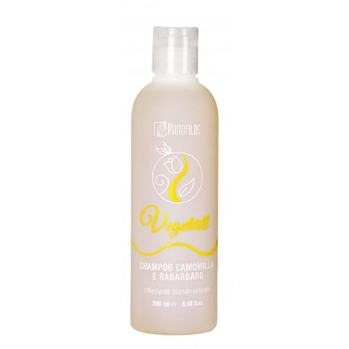 Shampoo Riflessante Camomilla e Rabarbaro per capelli biondi e castano chiari Phitofilos