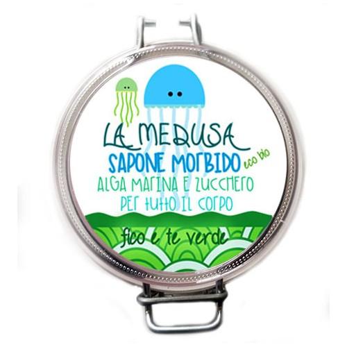 Sapone morbido a base di alghe marine e zucchero Medusa Verde Fico e Té Verde Volga Cosmetici