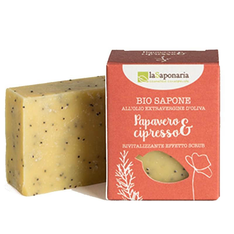 Sapone papavero e cipresso - 100gr laSaponaria