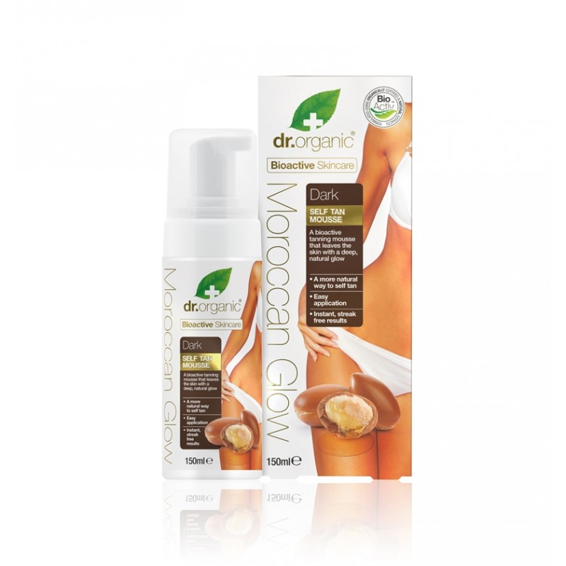 Organic Moroccan Glow Self Tan Mousse Dark – Mousse Autoabbronzante Intensa 150ml