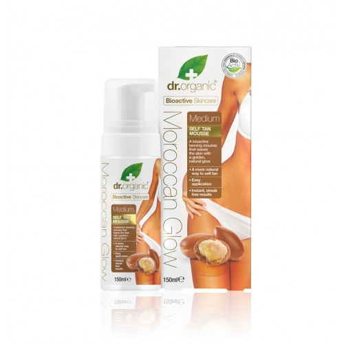Organic Moroccan Glow Self Tan Mousse Medium – Mousse Autoabbronzante Media 150ml