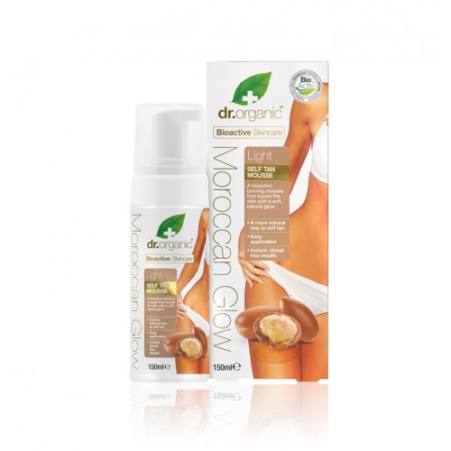 Organic Moroccan Glow Self Tan Mousse Light – Mousse Autoabbronzante Leggera 150ml