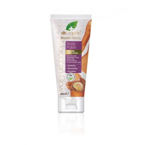 Scrub Esfoliante Organic Moroccan Glow Pre-Tan Exfoliator Body Polish