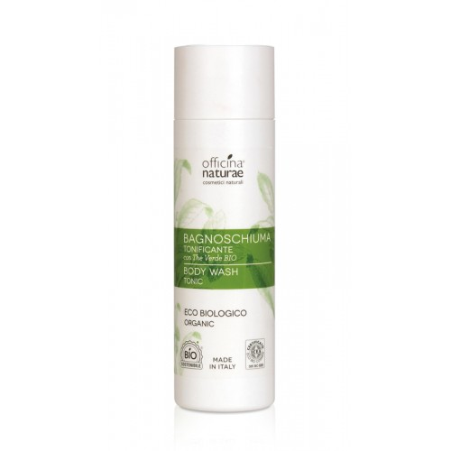 BAGNOSCHIUMA TONIFICANTE con The Verde biologico 200ml Officina Naturae