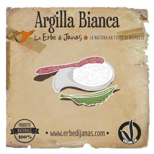 ARGILLA BIANCA Erba cosmetica 50gr Le Erbe di Janas