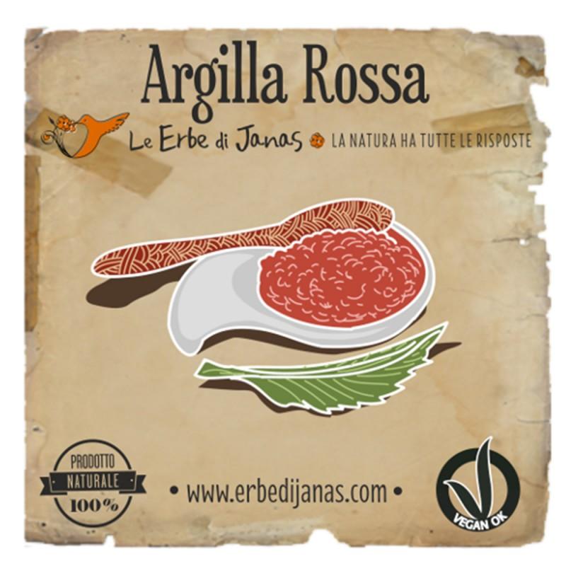 ARGILLA ROSSA Erba cosmetica 50gr Le Erbe di Janas
