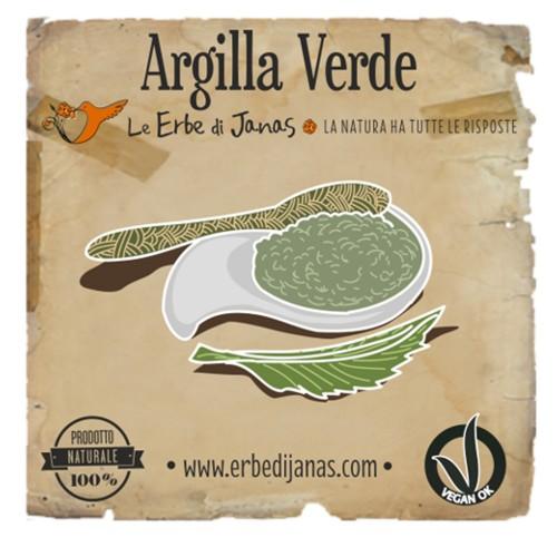 ARGILLA VERDE Erba cosmetica 50gr Le Erbe di Janas