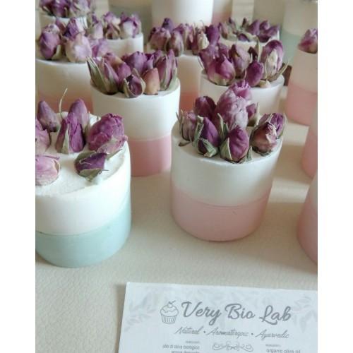 Bouquet di sapone vegetale con boccioli di rosa Very Lab