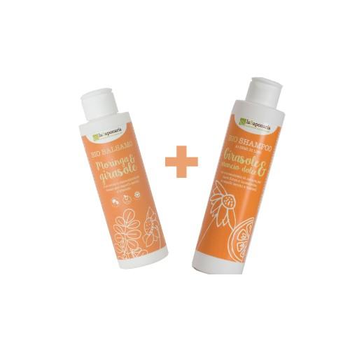 Set nutriente per capelli secchi 350ml la Saponaria