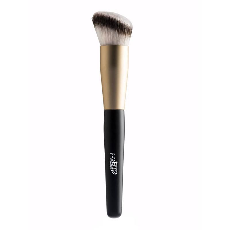 PENNELLO N.11 – SCULPTING ANGLED BLUSH Pennello viso per l'applicazione del blush in pregiato filato sintetico DERMOCURA®.