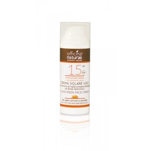 Crema Solare Viso SPF 15 Protezione Media- 50ml Officina Naturae