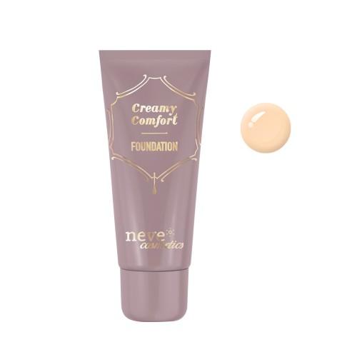 Fondotinta Creamy Comfort Light Warm - Chiaro sottotono caldo- Neve Cosmetics
