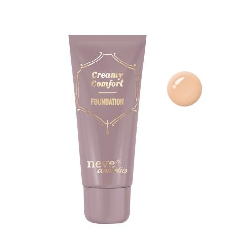 Fondotinta Creamy Comfort Tan Neutral - scuro sottotono neutro - Neve Cosmetics