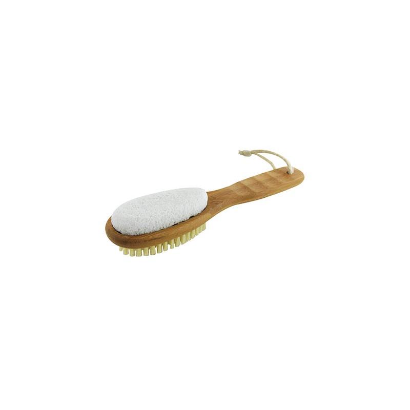 Spazzola per i piedi Bamboo Foot Brush & File