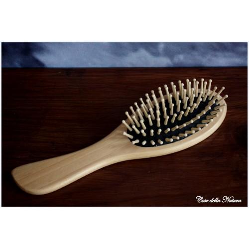 Spazzola per capelli in legno ovale grande Cose della Natura