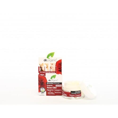 Crema da Notte all'Essenza di Rosa 50ml dr. Organic