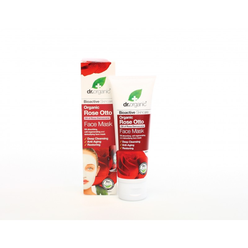 Machera per il Viso all'Essenza di Rosa 125ml dr. Organic