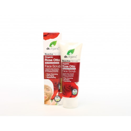 Scrub per il Viso all'Essenza di Rosa 125ml dr. Organic