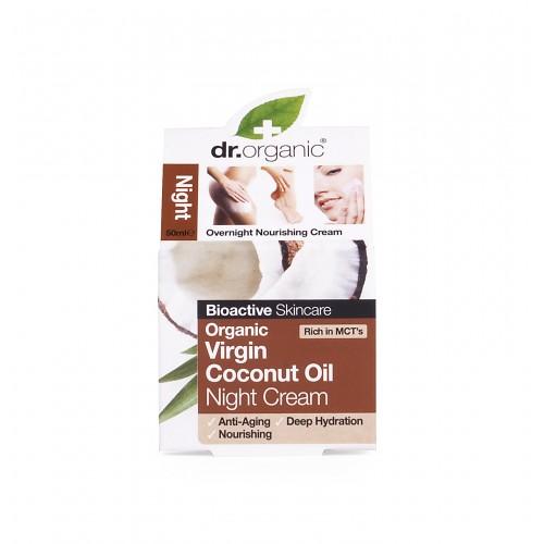 Crema Viso Notte all'Olio di Cocco 50ml dr. Organic
