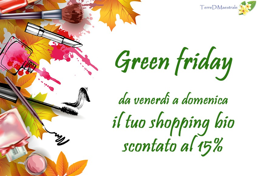 Green Friday, lo shopping bio scontato
